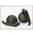 grenade isometric flat 3d vector image vector image