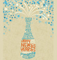 happy new year 2020 exploding champagne bottle vector image vector image
