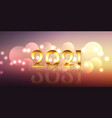 happy new year banner design with glittery gold vector image vector image