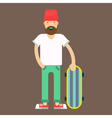 Hipster Skater vector image vector image