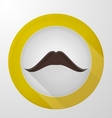 icon for blog Brown mustache vector image