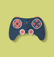 Icon of Joystick controller game pad Flat style vector image vector image