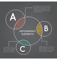 Infographics overlapping circles vector image