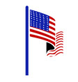 isolated flag vector image