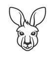 kangaroo head icon logo on white background vector image vector image