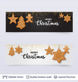 light and dark banners with gingerbread cookies vector image
