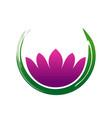 lotus zen abstract symbol vector image