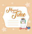 magical time cute card vector image vector image