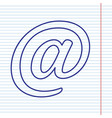 mail sign navy line icon on vector image vector image