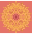 Mandala Print Orange vector image vector image