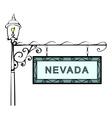 Nevada retro pointer lamppost vector image vector image