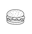 outline burger image vector image vector image