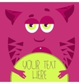Pink monster vector image vector image