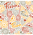 Pizzeria seamless pattern vector image vector image