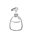 pump bottle vector image vector image