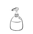 pump bottle vector image vector image