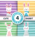 rabbit characters cute winter vector image vector image