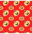 Red slanted Halloween pumpkin seamless pattern