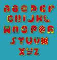 red superhero alphabet vector image vector image