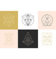 sacred geometry shapes logotype designs set vector image