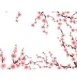 Sakura blossoms background EPS 10 vector image vector image