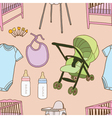 Seamless of Baby accessories vector image