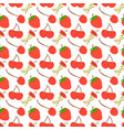 seamless pattern with fruit cherry strawberry vector image vector image