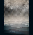 set clouds and mountain on transparent vector image vector image