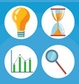 set of business icons vector image vector image
