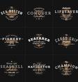 Set of Hipster Vintage Labels Logotypes Badges for vector image vector image
