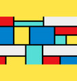 simple color banner colorful rectangles and black vector image vector image