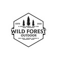 simple wild forest outdoor logo design best vector image vector image