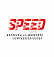 speed style modern font alphabet letters and vector image vector image