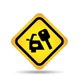 traffic sign concept icon car key vector image