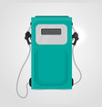 red petrol station vector image