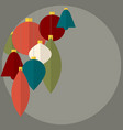 flat design abstract christmas decorations vector image