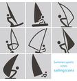 2267 sailing icons vector image