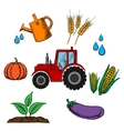 Agriculture industry and farming food vector image