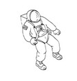 astronaut floating in space drawing vector image vector image