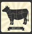 beef cuts butchers cheme cutting meat vector image
