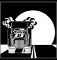big truck racing vector image vector image