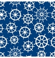 Blue seamless pattern with ship helms vector image vector image