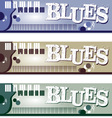 Blues Banners vector image