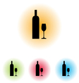 Bottle and Glass101 vector image vector image