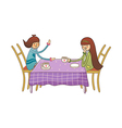 Boy and Girl in cafe vector image vector image