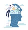 brain diagnostics patients mind examination vector image