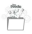 business doodle concept vector image vector image
