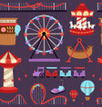 carousels amusement attraction side-show kids park vector image