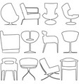 chairs icons vector image vector image