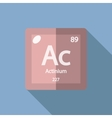 Chemical element Actinium Flat vector image vector image